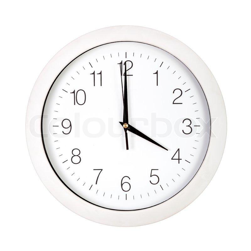 Clock Face Showing 12 O'clock Clock Face Showing Four