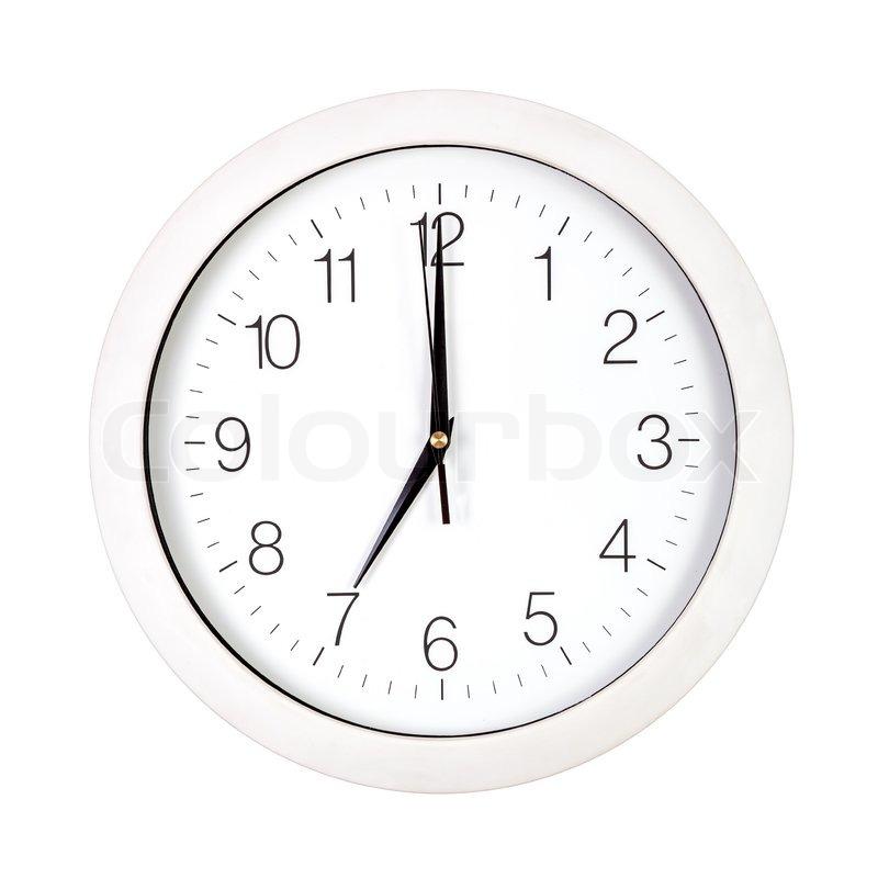 Clock Face Showing 12 O'clock Clock Face Showing Seven