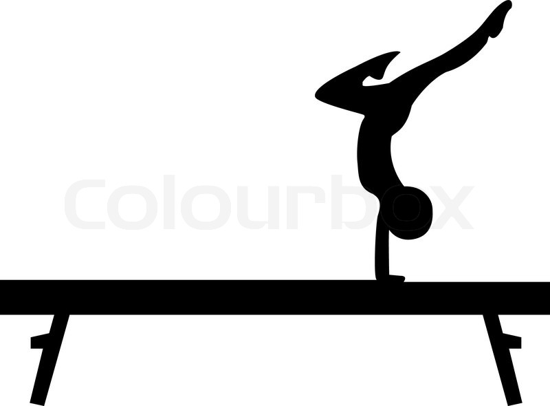 Gymnastics Beam Stock Vector Colourbox