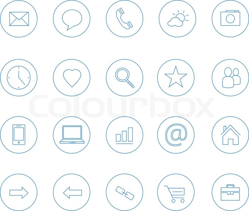 Clean icons transparent blue | Stock Vector | Colourbox
