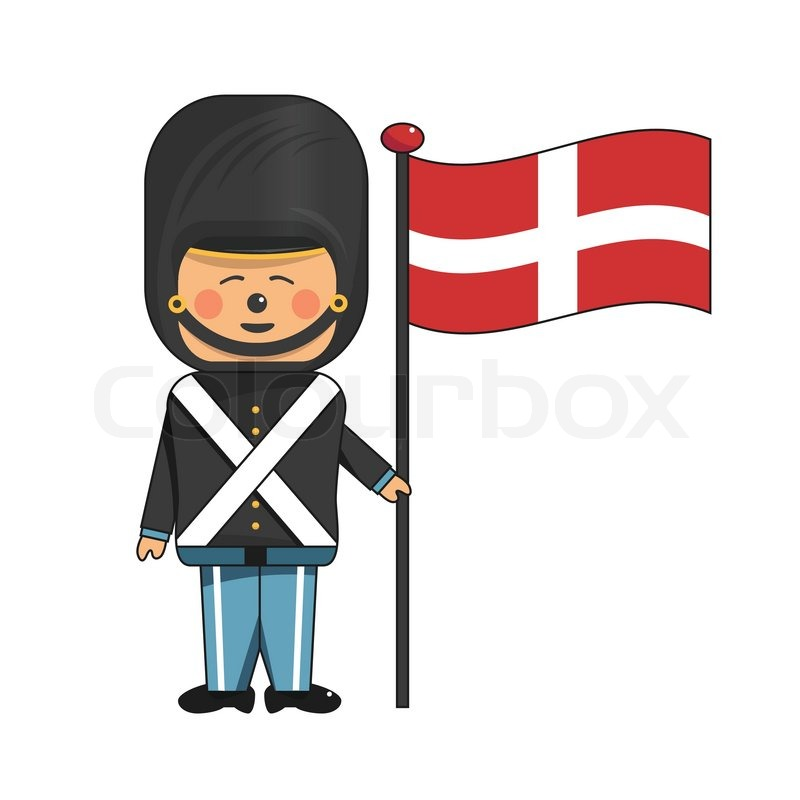 Happy Soldier In Red Uniform Holding Stock Vector Colourbox