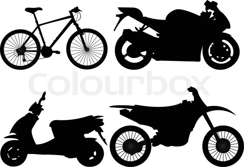 motorcycle collection vector stock vector colourbox rh colourbox com vector motorcycle free vector motorcycle logo