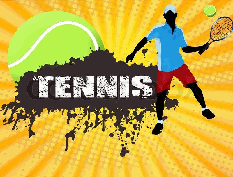 Tennis Poster Stock Vector Colourbox
