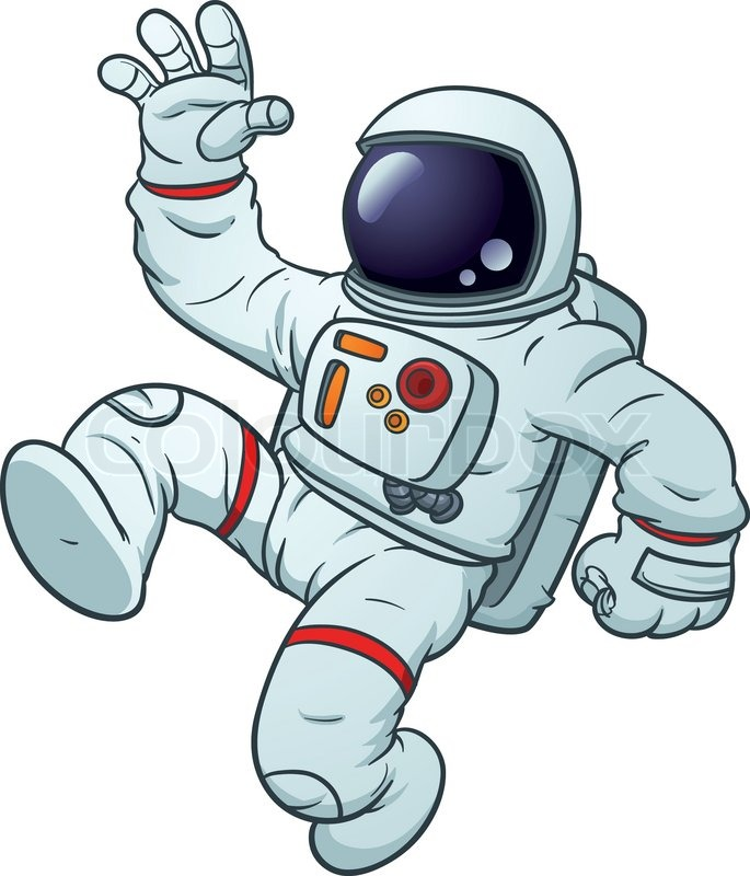 astronaut floating in space clipart - photo #5