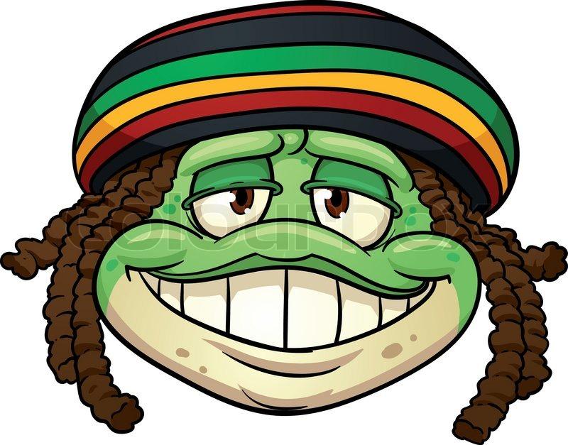 cartoon frog wearing a rastafarian hat vector illustration with rh colourbox com rasta cartoon characters rasta cartoon children