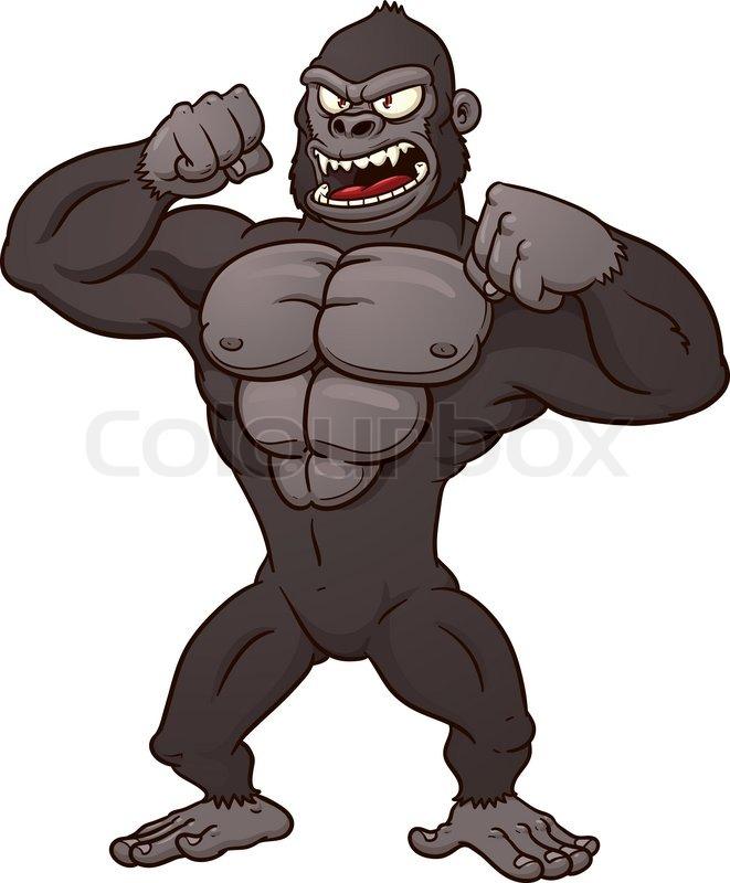 angry cartoon gorilla - photo #16