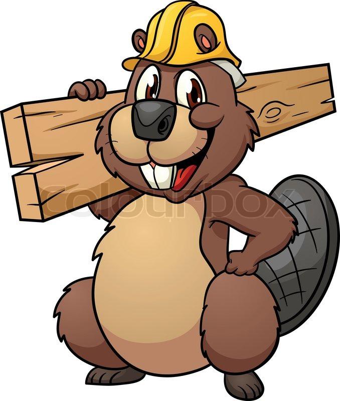 58ad2141a7a5 Cute cartoon beaver wearing a ...