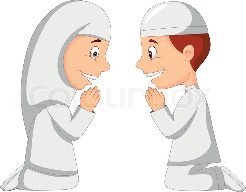 Muslim kid cartoon | Stock Vector | Colourbox