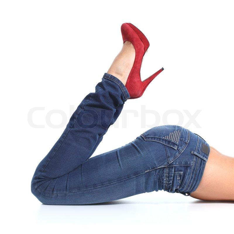 Nærbillede af en smuk kvinde ben med | Stock foto
