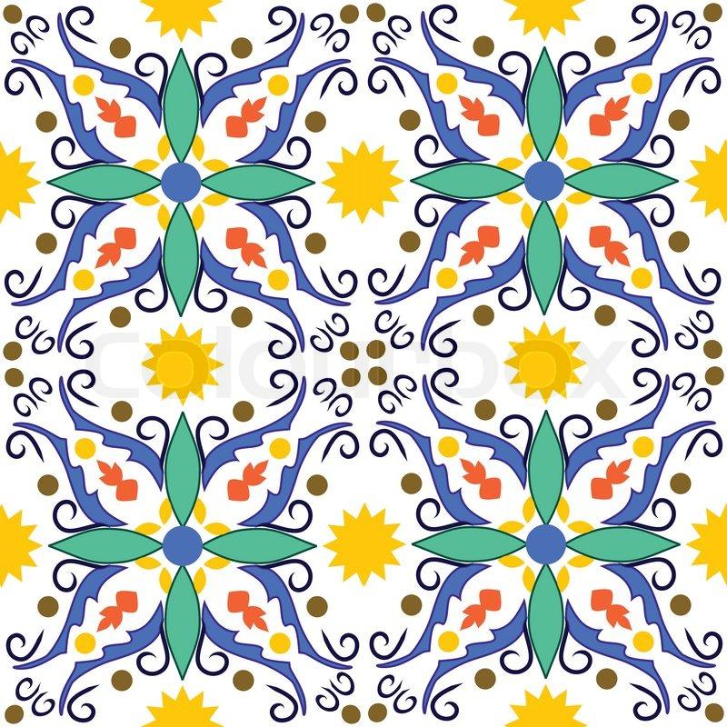 Traditional Sicilian Pattern Stock Vector Colourbox