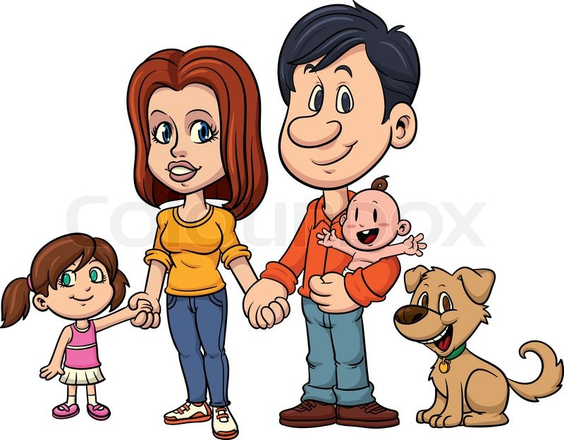 happy family holding hands all in a single layer stock vector
