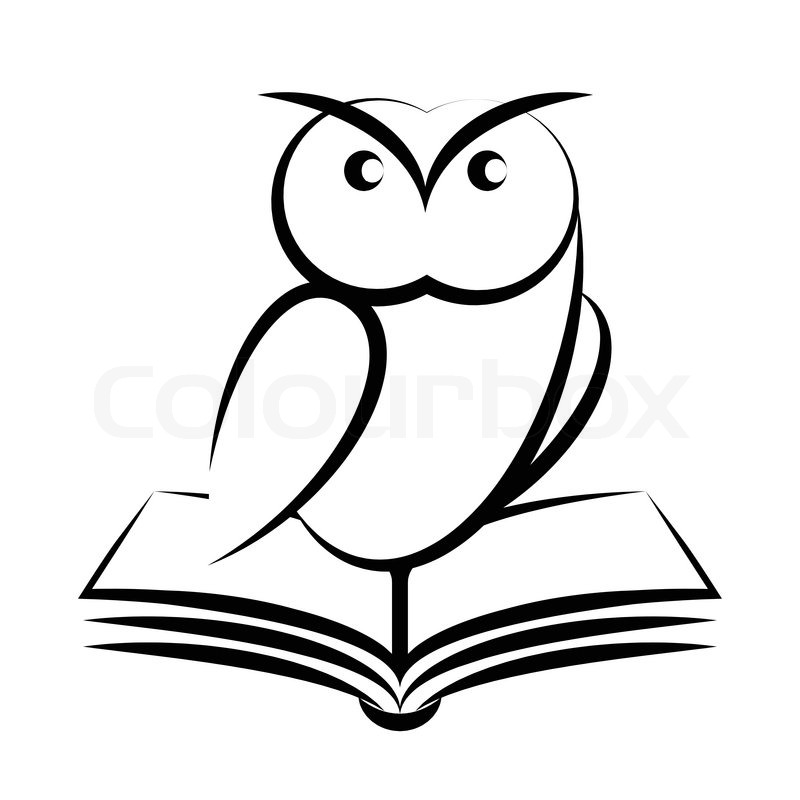 Cartoon Of Owl And Book Symbol Of Wisdom Isolated On White