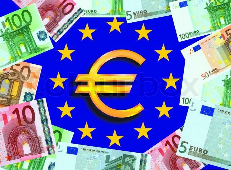 Euro money with euro flag and sign stock photo colourbox - Stock piastrelle 2 euro ...