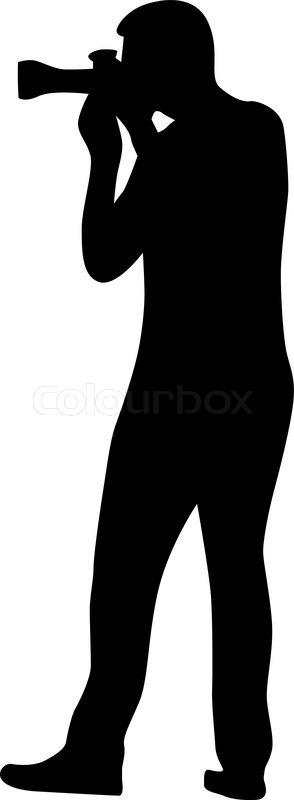 photographer silhouette vector stock vector colourbox