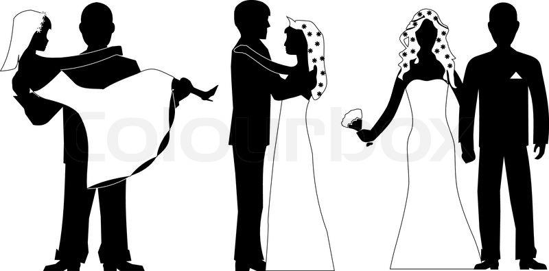 Wedding silhouette set vector | Stock Vector | Colourbox