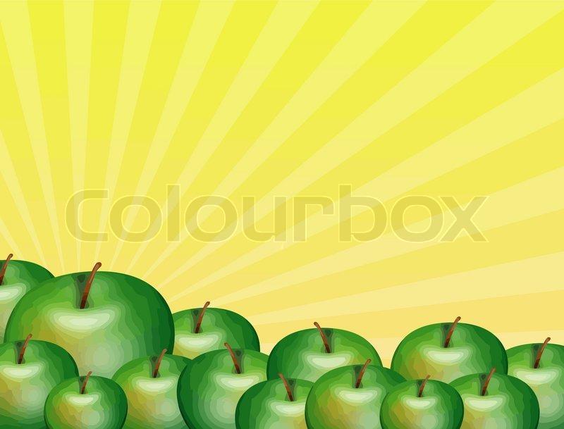 Grune Bohnen Farbe : Grüne Äpfel  Vektorgrafik  Colourbox
