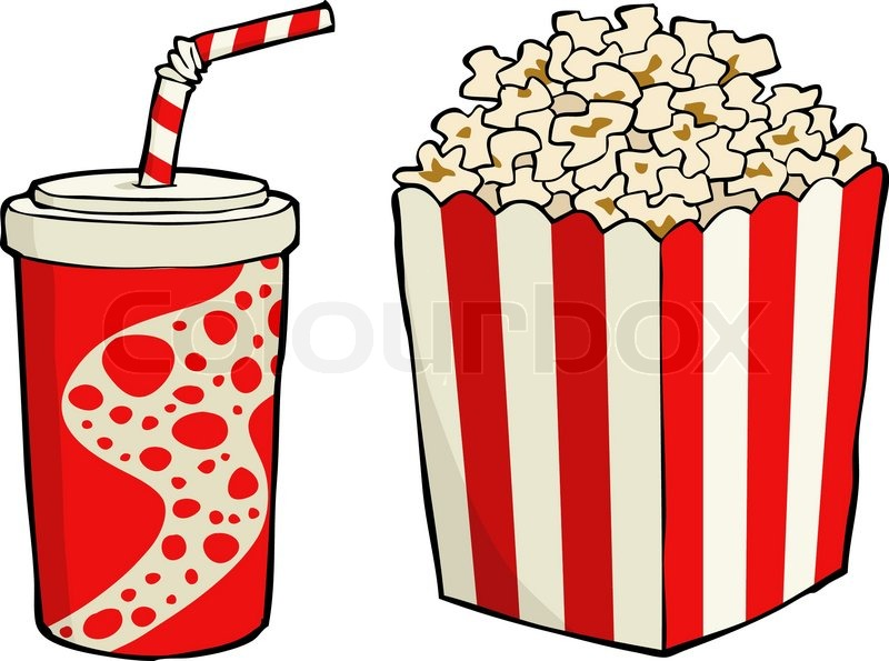 Classic clip art graphic icon with popcorn | Stock Vector | Colourbox