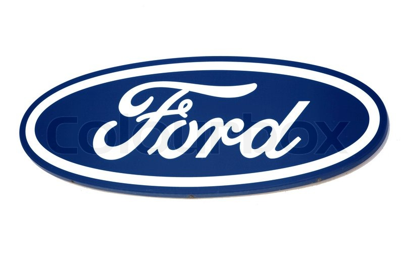 Ford Logo Brand Of American Car Stock Photo Colourbox