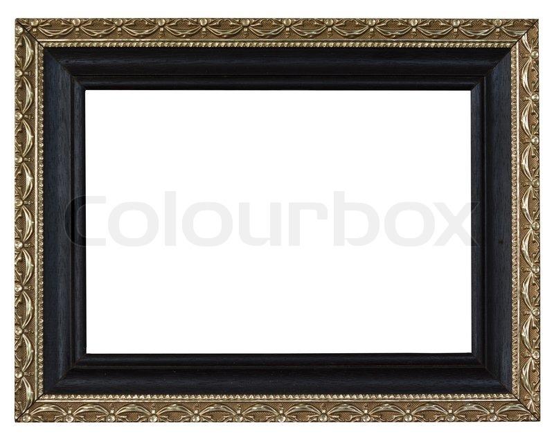 Antique white frame isolated on white background | Stock Photo ...