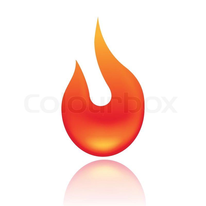 Fire Symbol Stock Vector Colourbox