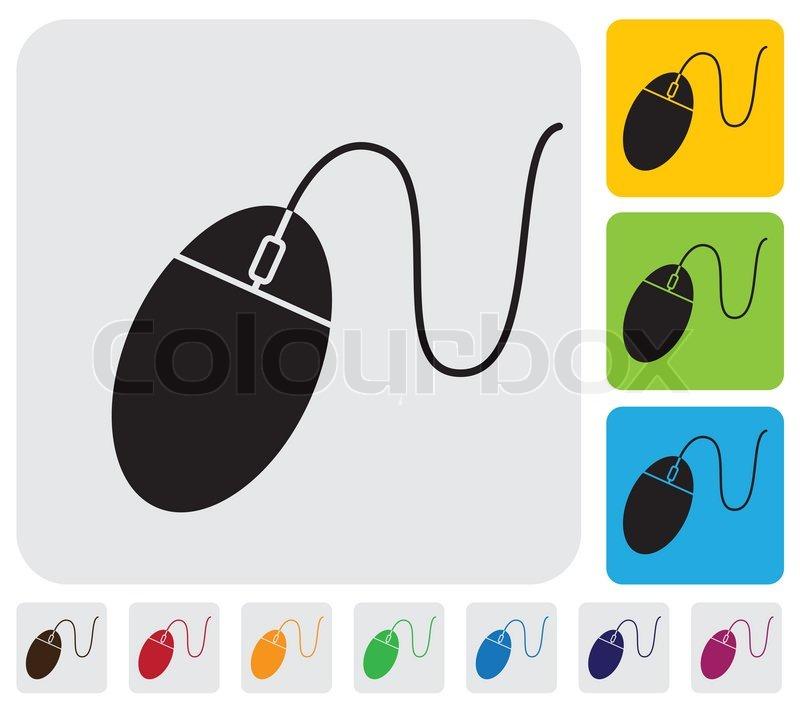 Kabelgebundene Maus iconsymbol für PC oder Computer -simple Grafik ...