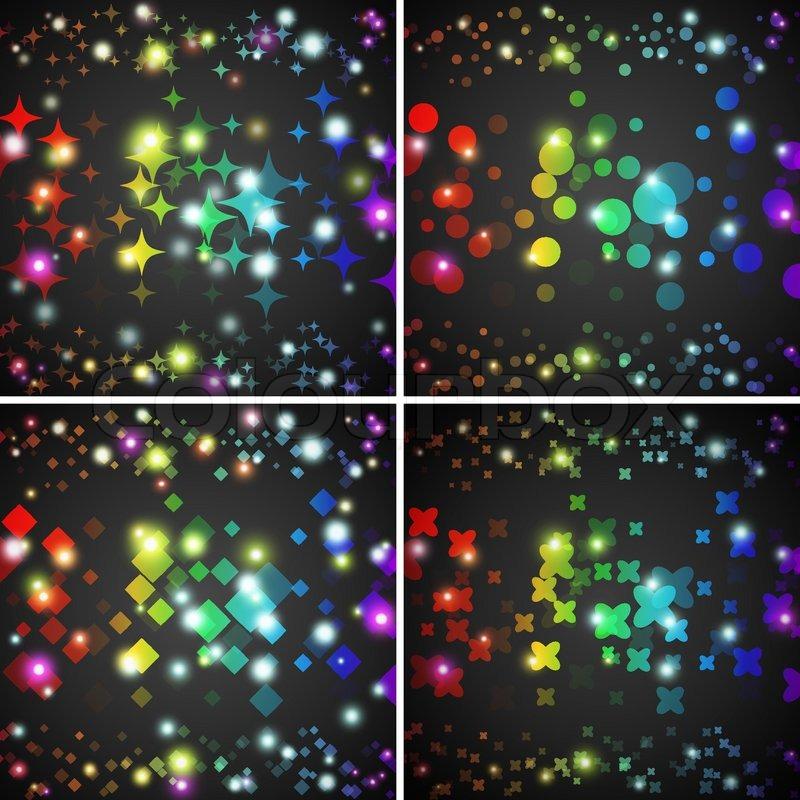 Rainbow Circles Wallpaper Rainbow Glowing Circles