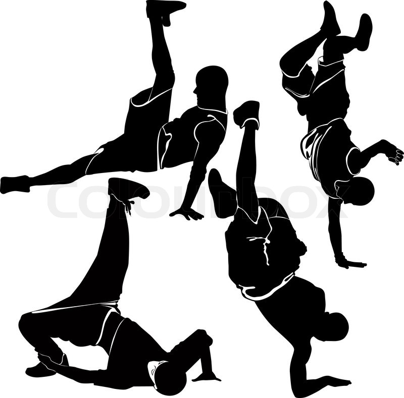 Breakdance silhouette break dance | Stock Vector | Colourbox