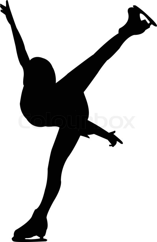 figure skating - vector | stock vector | colourbox