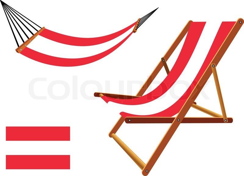 Magnificent Austria Hammock And Deck Chair Set Stock Vector Download Free Architecture Designs Scobabritishbridgeorg