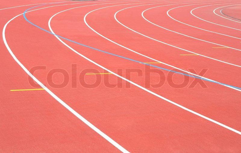 Track Running stadium turn athletic sport, stock photo