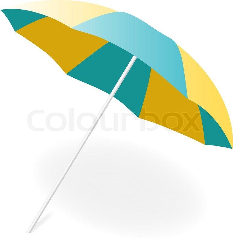 Sonnenschirm clipart gratis  Liegestuhl und Sonnenschirm | Vektorgrafik | Colourbox