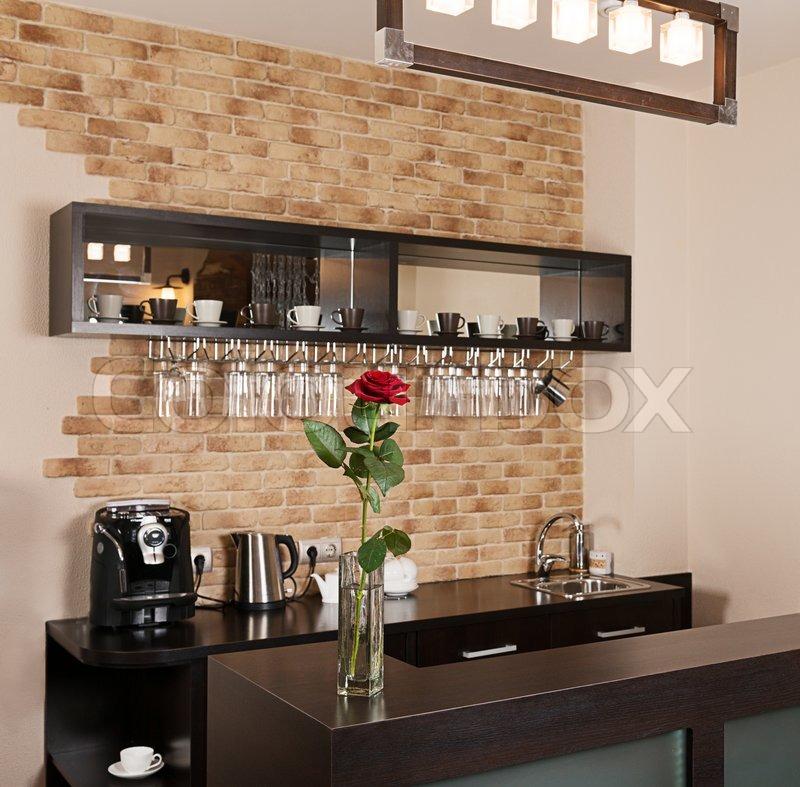 Kleine bar stockfoto colourbox Bar en casa decoracion