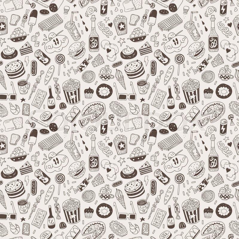 Fast food - sea... Junk Food Background