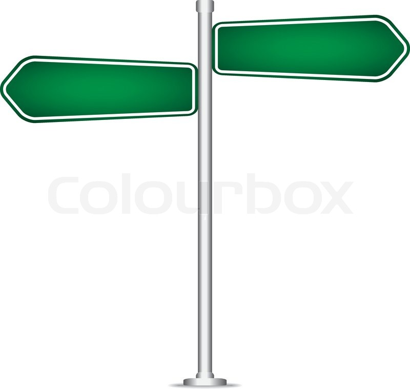 vector pole sign road blank isolated stock vector
