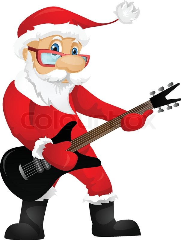 cartoon character santa claus isolated on grey gradient bass guitar clipart electric bass guitar clipart