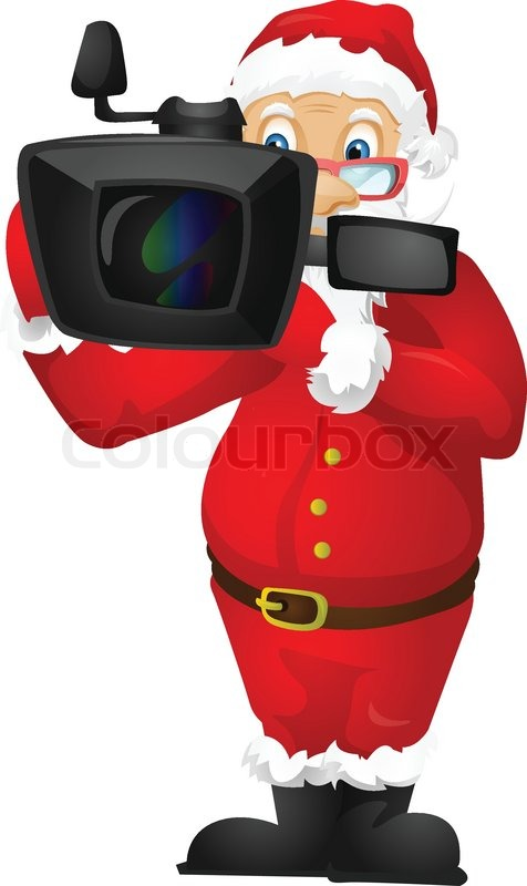 cartoon character santa claus isolated on grey gradient movie camera film clipart film camera clipart png