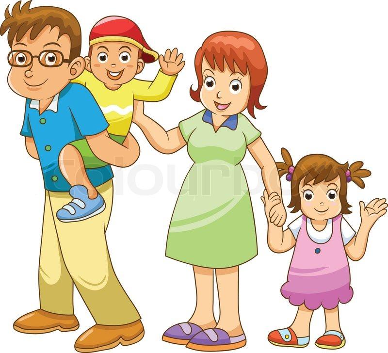 family vector cartoon stock vector colourbox