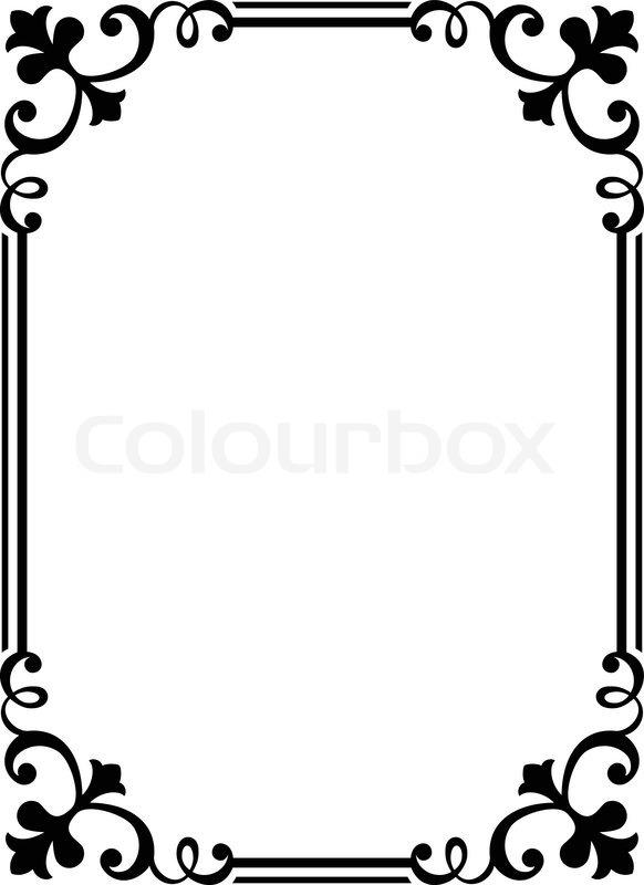 kalligraphie kalligraphie geschweiften barocken rahmen schwarz vektorgrafik colourbox. Black Bedroom Furniture Sets. Home Design Ideas