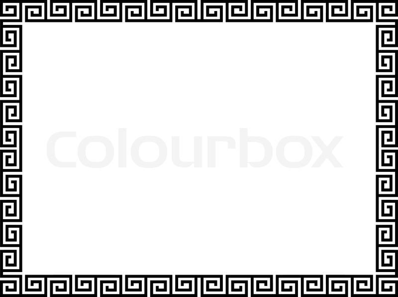 Greek style black ornamental decorative frame | Stock ...
