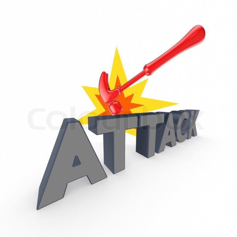 Word ATTACK | Stock Photo | Colourbox
