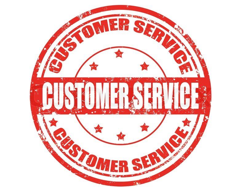 Customer Service Stamp Stock Vector Colourbox