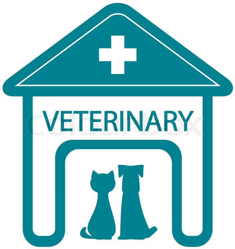 Veterinary symbol with... Surgeon Silhouette