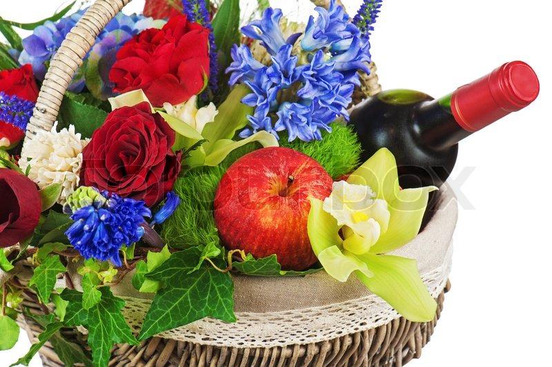 blumenschmuck aus rosen orchideen stockfoto colourbox. Black Bedroom Furniture Sets. Home Design Ideas