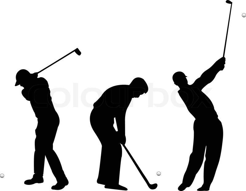 Golf Silhouettes Vector Stock Vector Colourbox