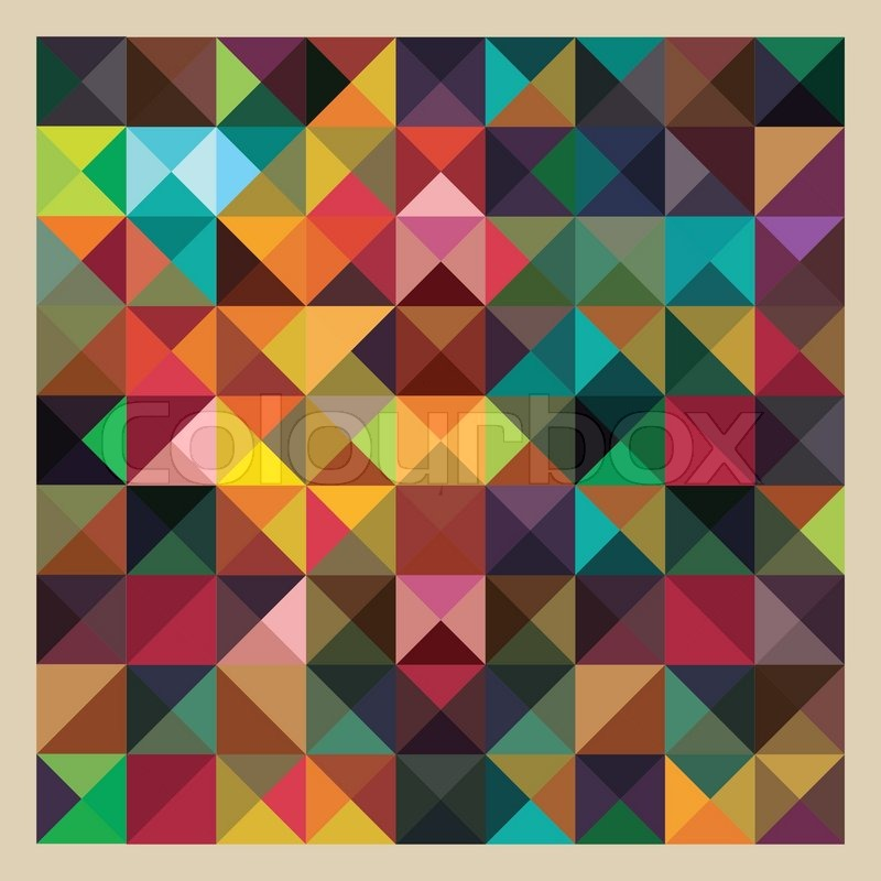 triangle colorful triangles art - photo #37