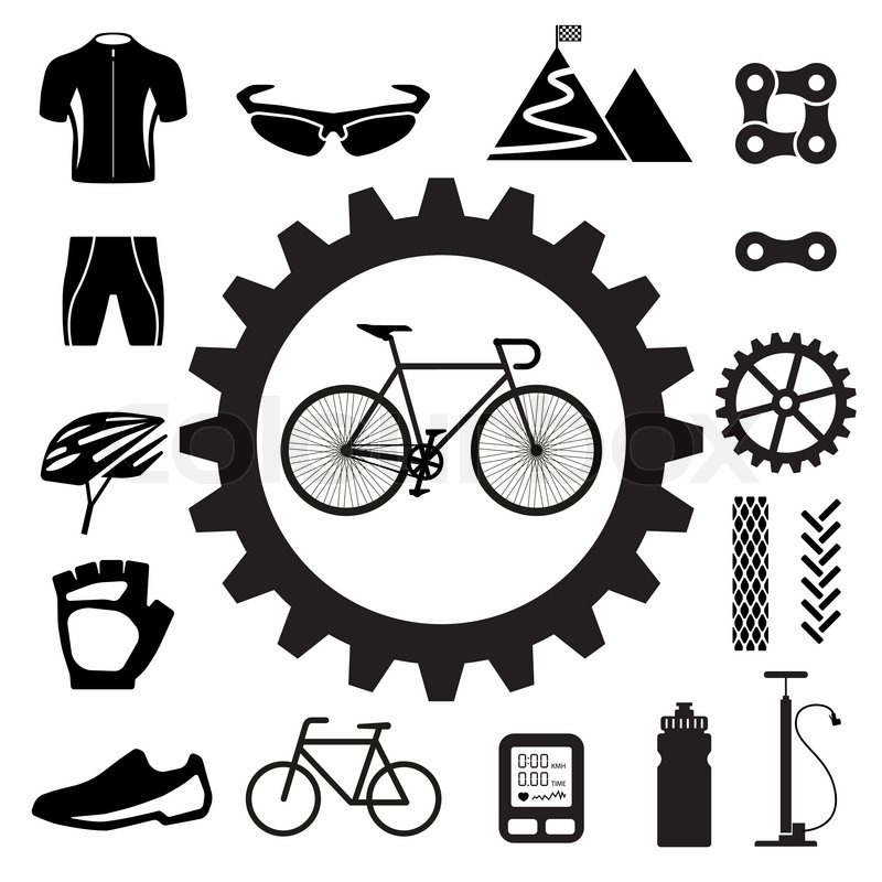 Bicycle Icons Set Illustration Eps 10 Stock Vector Colourbox