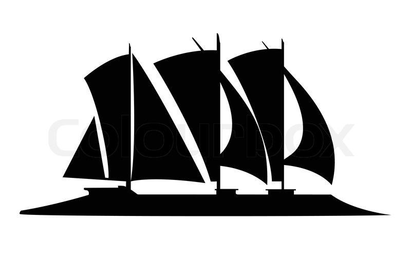futurustic sailing boat silhouette vector stock vector colourbox rh colourbox com pirate ship silhouette vector ship silhouette vector free