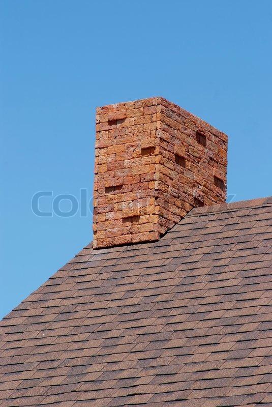 Storslåede Close up muret skorsten på taget | Stock foto | Colourbox PT16
