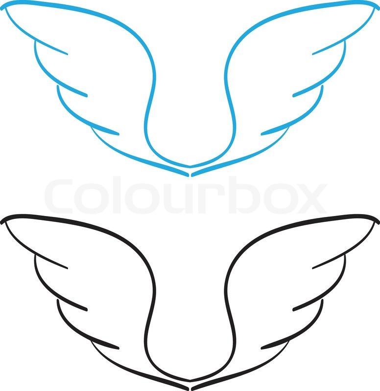 Hand gezeichnet Flügel | Vektorgrafik | Colourbox