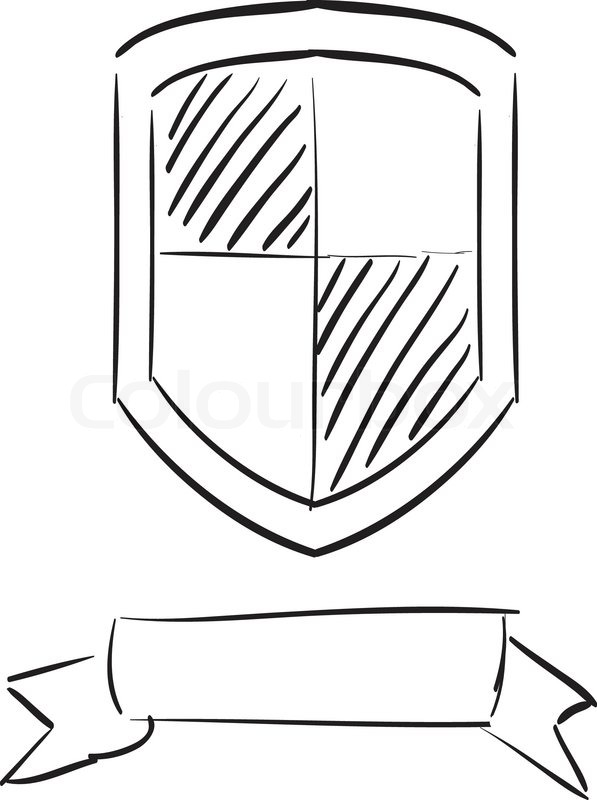 Stock vector of 'Hand drawn shield'